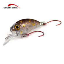1pc, Crank Bait Plastic Hard Lures 32mm, Salmon Fishing Baits, Crankbait, Wobblers, Freshwater Fish Lure(China)