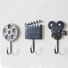 3pcs/lot Creative Coat Hook Wall Hanger Film Equipment Design Wall Decoration Hook Hot Selling m film equipment hook