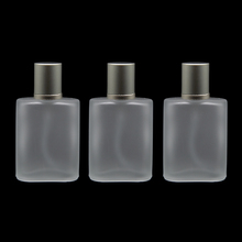 BP-02 30ml 1pcs/lot Silver Gray Cap Flat Style Frosted Semi Clear Glass Spray Perfume Bottle Glass Automizer Spray Bottle