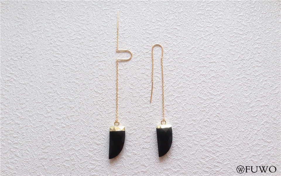 Natural Black Onyx Earrings 8