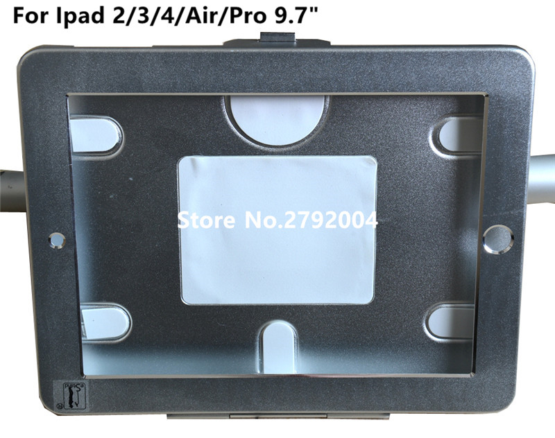 for iPad 2/3/4 /air/pro 9.7 table security stand  shopping cart stand <br>