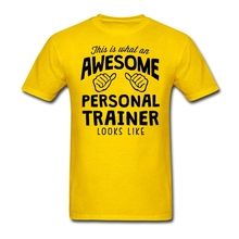 Custom Short Sleeve Awesome Personal Trainer T Shirt Men's Creative 3XL Party Tshirts