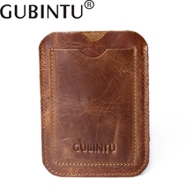 GUBINTU Genuine Leather credit Card holder Men and Women small wallet Simple driver license Bus and bank card holder B3001-6