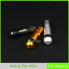 4x Universal Aluminum Metal Car Tyre Valve Stem Motorcycle Wheel Tire Air Valve Stem Hex Dust Tire Valve Bolt
