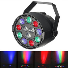 DMX512 Disco Lamp stage light 12LEDs RGBW Par light luces discoteca laser projector dmx Controller for DJ Party KTV(China)
