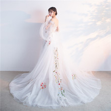 White Fairy Wedding Dresses With Color Off The Shoulder Wedding Gowns  Vestidos De Noiva Lace Up 64aa5dcb2a0c