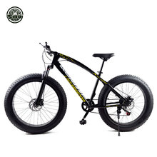 "Snowmobile 7 Speeds, 21Speeds .24 Speeds .27 Speeds 26x4.0"" Fat Tire Mountain Bike Off-road gear reduction Beach Bike"
