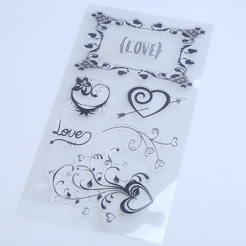 1PCS/LOT Transparent Stamp LAVE Heart For DIY Scrapbooking/Card Making/ Decoration Supplies<br><br>Aliexpress