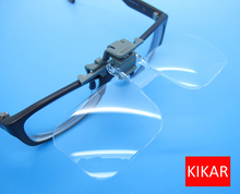 KIKAR Clip-and-Flip Optical Magnifying Lens 2x Power +4.00 Diopters Magnifier Loupe Toy Handsfree Eyeglass Fly Fishing Tying Eye(China)