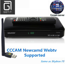 SOLOVOX F5S Satellite Recepter DVB-S2 Satellite Receiver Decoder Cccam Newcam Youtube WebTV Supported set top box(China)