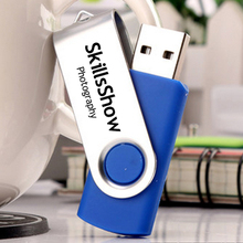 100PCS/Lot Swivel USB 2.0 4GB 8GB Flash Drive/Disk with Customized Logo Printing for Promotional Company Gifts