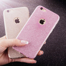 Buy 6 7 Bling Glitter Powder TPU Cover Funda Iphone 5 5s SE 6 6s 7 Plus Case Fashion Ultra Thin Crystal Soft Silicon Phone Cases for $1.14 in AliExpress store