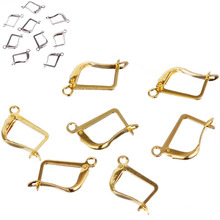 LNRRABC Hot 12MM*16MM 30pcs/lot Ear Clip Big Square polymorph Earrings hand made Accessories base Women Free Shipping