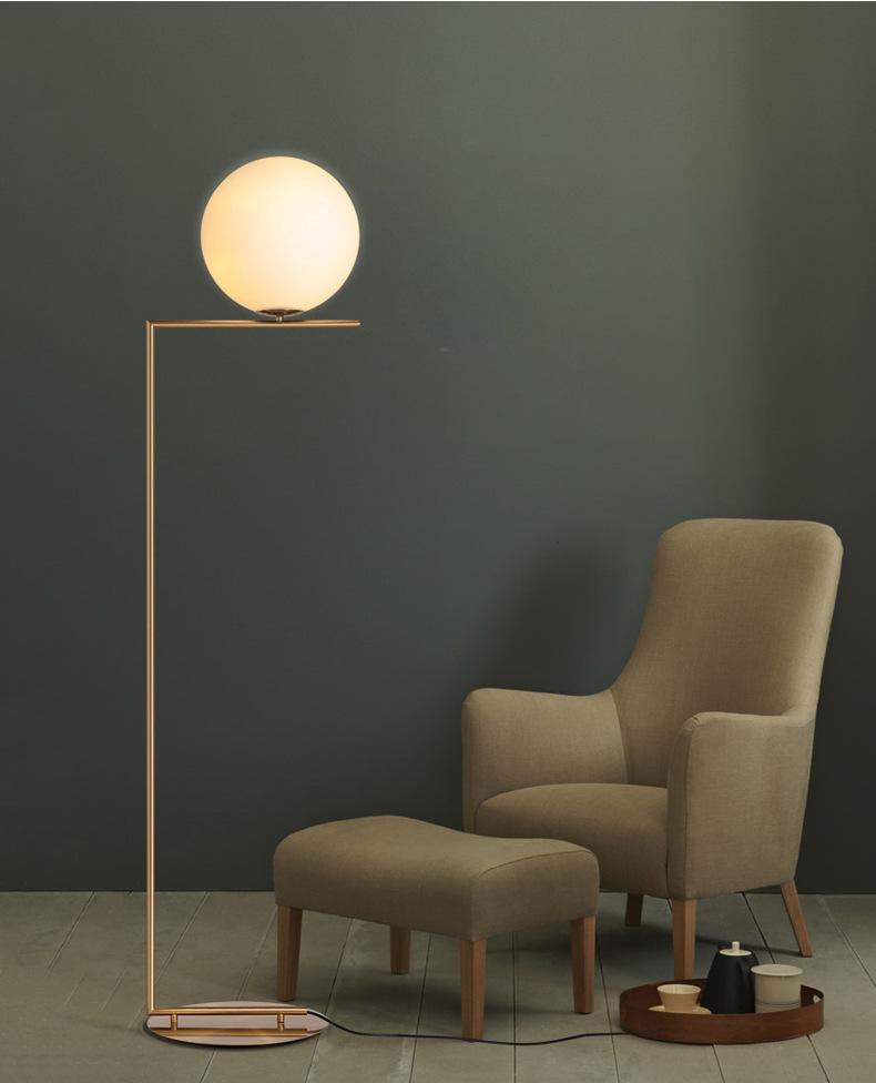Modern LED Floor Lamp Floor Light Shade Glass Ball Standing Lamp for Bedroom Living Room Gold Designs (15)