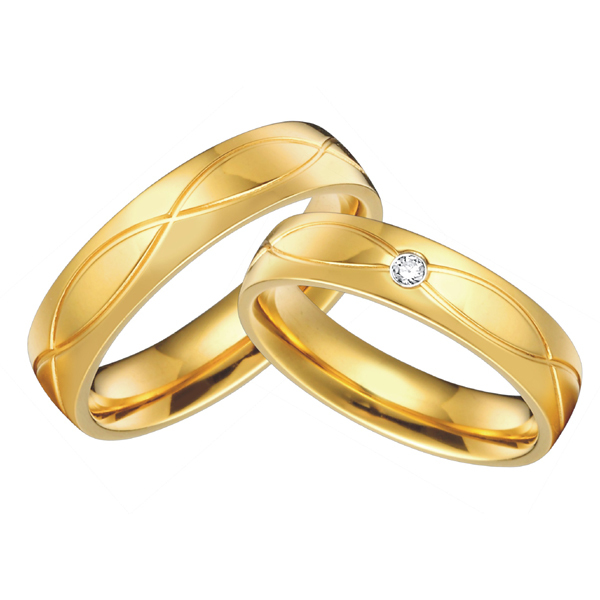Wedding rings for men and women gold