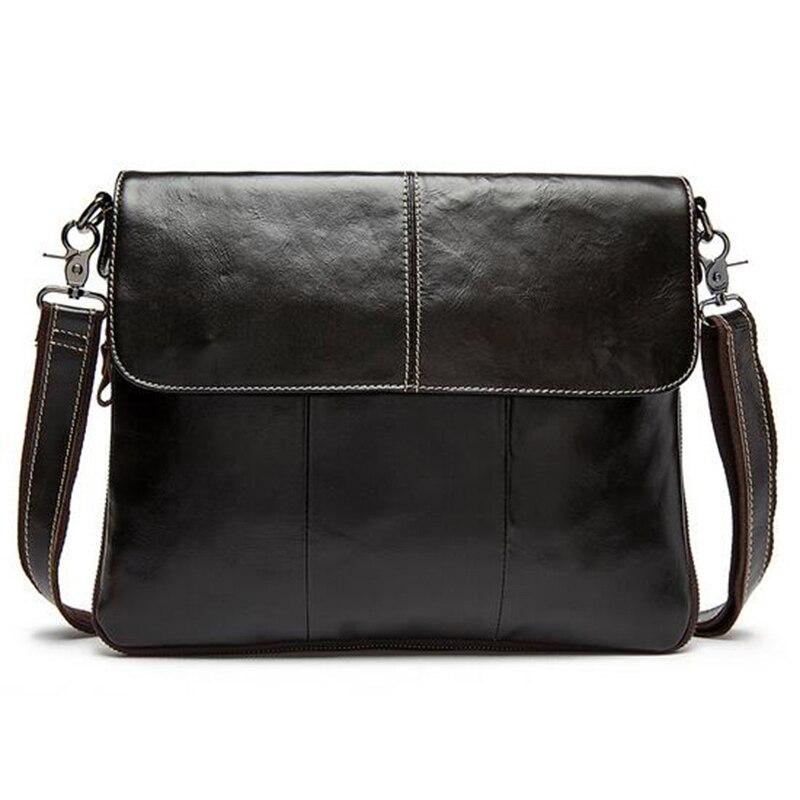 Senkey style Men Bag Genuine Leather Mens Crossbody Bag Fashion Bag Male Messenger Men Bags Leather Casual Shoulder Handbag<br>