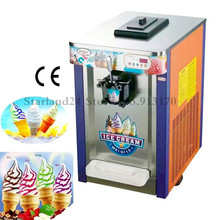 Soft Ice Cream Machine Single Flavor 220v Low Noise Desktop Ice Cream Maker LED Display(China)