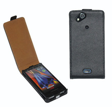 Genuine leather flip cover for Sony Ericsson X12 Xperia Arc LT15i full case for Sony Xperia Arc S LT18i vertical phone case SZ