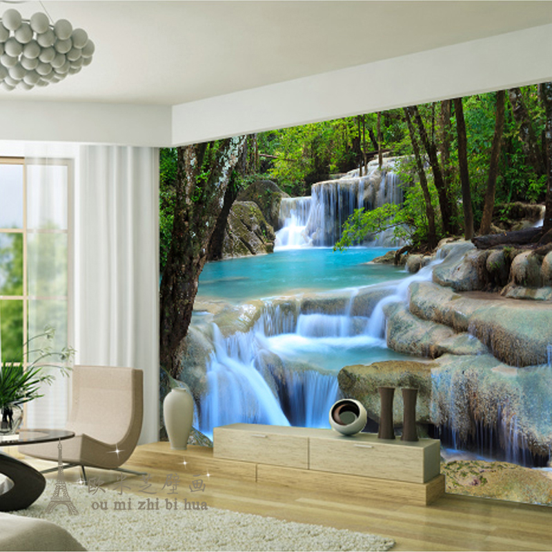 Modern fresh green woods stream river wallpaper for walls 3 d wallpaper bedroom large living room TV backdrop wallpaper mural<br><br>Aliexpress