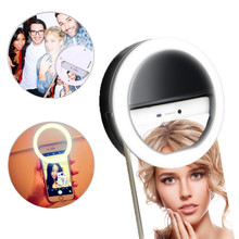 2017 Selfie Flash LED Fill Ring Light Phone Camera Lights Photography For Apple Iphone Android Samsung HTC Xiaomi Free shipping(China)