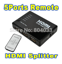2015 New HDMI True Matrix 3/5 Port HDMI Switch Switcher Splitter Hub Box for PS3 for Xbox 360 HDTV DVD + IR Wireless Remote