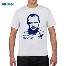 GILDAN Men's Short sleeve t-shirt Wayne Rooney The Red Devils Old Trafford England Premier League 100% cotton t shirt(China)