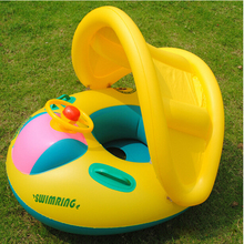 Inflatable Toddler Baby Swim Ring Float Seat Swimming Pool Seat with Canopy Free Shipping