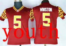 New Arrival Nike 2015 Youth Florida State Seminoles winston 5 College jersey - Purple Size S,M,L,XL# 8