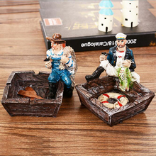 Pirate ashtray Creative gifts Continental Mediterranean style retro do old models home decoration model CR-K2424