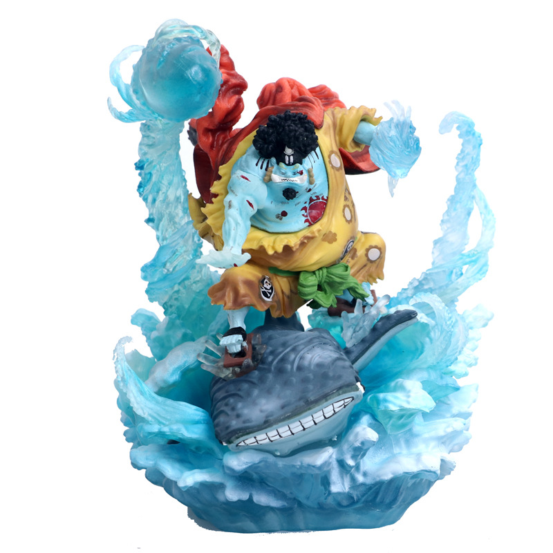 NEW hot 21cm One Piece War damage Jinbe Action figure toys doll Christmas gift no box (3)