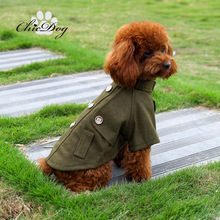 Pet clothes british style wool coat trench 2013 dog teddy wadded jacket winter(China)