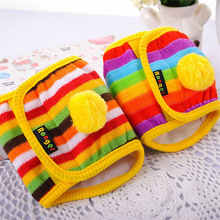 Hoopet Dog Diaper Reusable Belly Band Cotton Physiological Underwear Wrap Nappy Colorful Pets Sanitary Pants for Male Dog