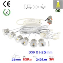 Super Hot 1W 2W 3W 4W 6PCS/set Mini Led Down light Lamp 80Ra 100Lm/W Spot Ceiling Light for Cabinet Closet 5 Years Warranty
