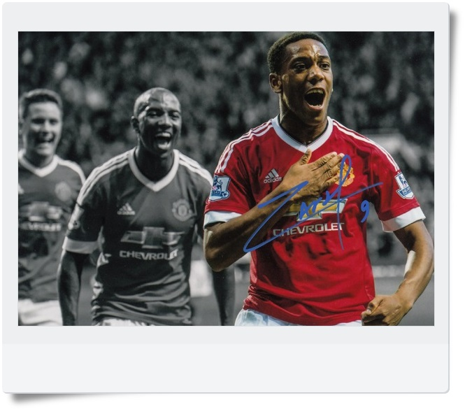 signed Anthony Martial  autographed  original photo  7 inches freeshipping 3 versions 062017  B version<br>
