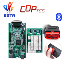Double Green PCB CDP tcs pro tcs cdp plus Bluetooth 2014.R2 2015.03 with keygen OBDII scanner OBD2 cars trucks diagnostic tool(China)