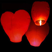 1pcs Birthday Party Flying Wishing Lamp Hot Air Balloon Kongming Lantern Love Heart Sky Lantern Party