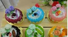 fashion  Children  Artificial food mug-up ice cream circle flower cake  toy props gift  E0419