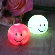 LED Vinyl Smiling Face Sleep Table Bedroom Baby Night Light For Kids Feeding Lamp DecorFor Promotion(China)
