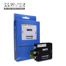 SSRIVER RCA to HDMI AV to HDMI 1080P AV2HDMI Mini AV to HDMI Converter Signal Converter for TV, VHS VCR, DVD Records