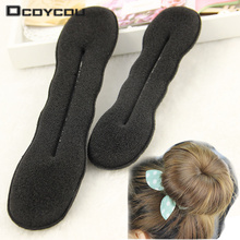 2 pcs Quality Women Magic Foam Sponge Foam Twist Hair Disk Hairs Band Tool Quick Messy Bun Updo Headwear Accessories