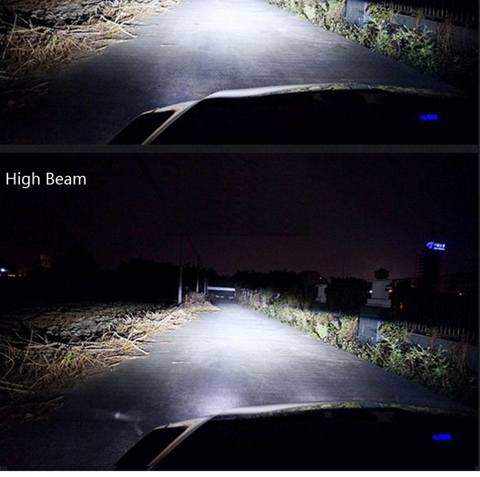 COOLEEON LED Car Lights H1 H4 H7 H11 9005 9006 Auto Headlamp Bulbs 12V 24V Cars Headlights 80W CREE LED Chips 6000K White Lamp (15)