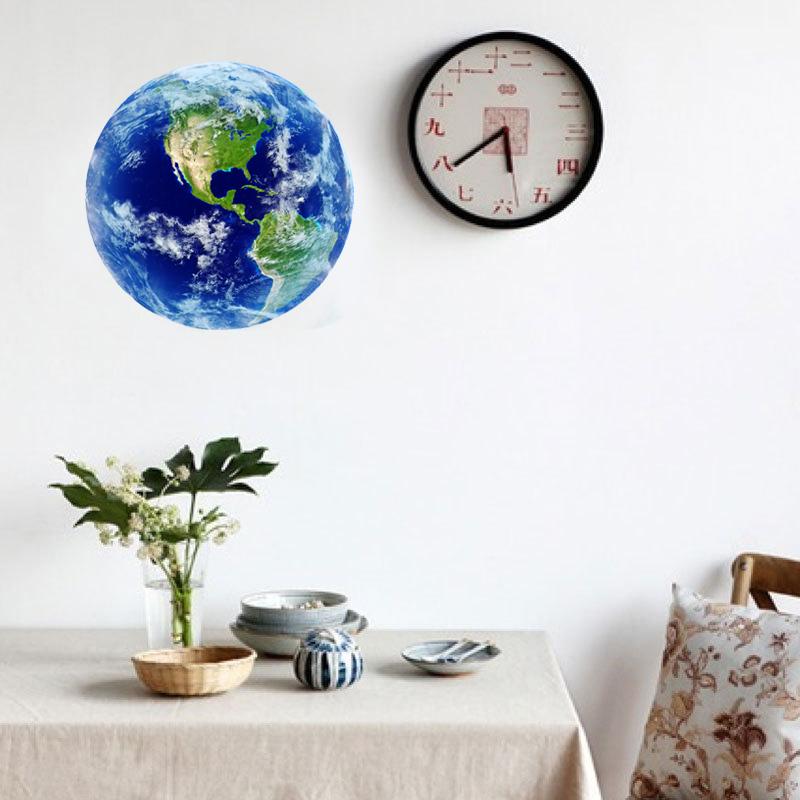 HTB1JOHNRVXXXXXwXFXXq6xXFXXXC - Hot sale 1PCS new Luminous blue earth Cartoon DIY 3d Wall Stickers for kids rooms bedroom wall sticker Home decor Living Room