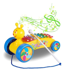 Snails Rolling  Knock on Piano Baby Kids Plastic Toddler Learning Fun Toy