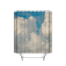 Vintage Decor Shower Curtain Set , Magical Sky Looks Like Dream Space With Sun Rays Celestial Miracle Atmosphere Old Photo