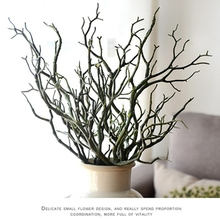3pcs Manzanita Dry Artificial Fake Foliage Plant Tree Branch Wedding Home Church Office Furniture Green White 36cm