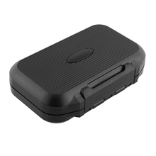 ABS Foam Fly Fishing Fish Lure Bait Hook Storage Case Box Waterproof Black AHB013 Useful Durable Free shipping