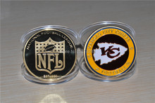 New Arrivals America football challenge coin Kansas and Raiders gold coins NFL sports coin Free shipping 2pcs/lot