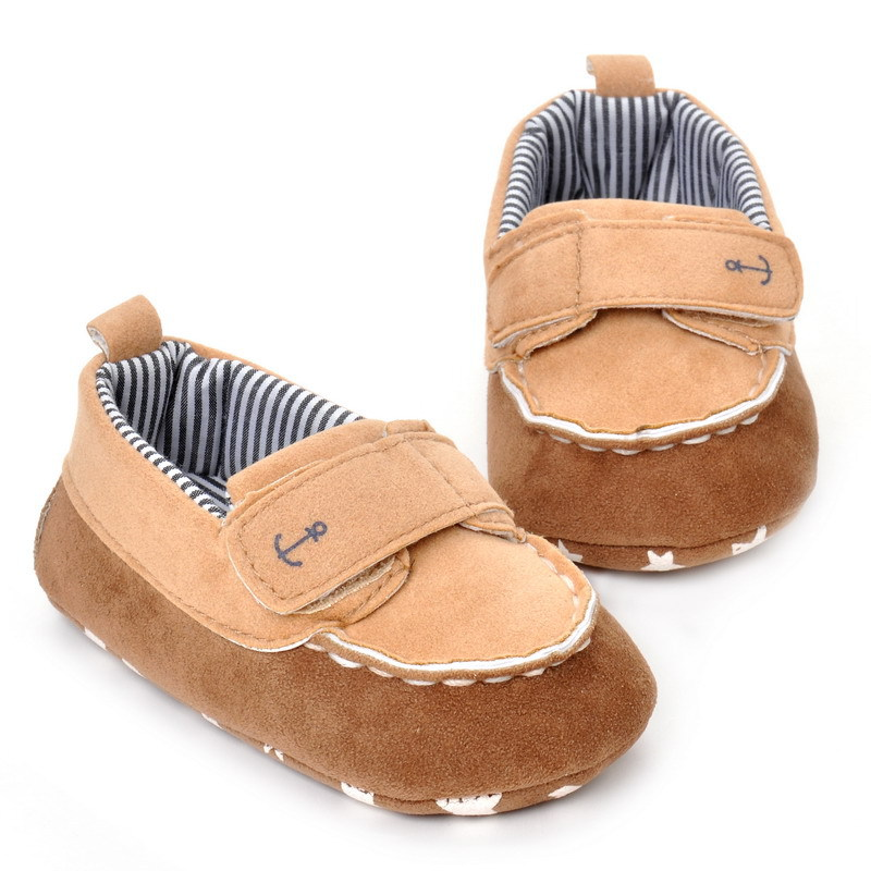 17 Fashion Newborn Baby Girl Boy Shoes Soft Sole Infantil Toddler Baby Boy Sneakers Blue Baby Mocassins Crib Peas Flock Shoes 23