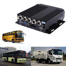 SW-0001A Car RV Mobile HD 4CH DVR Realtime Video/Audio Recorder SD with VGA Remote Control for Bus Truck Vehicles Automobiles(China)