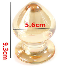 Buy Dia 5.6 CM Big Glass Anal Bead Butt Plug Anus Pleasure Sex Toys Couples,Erotic Adult Games Products Women Men Gay